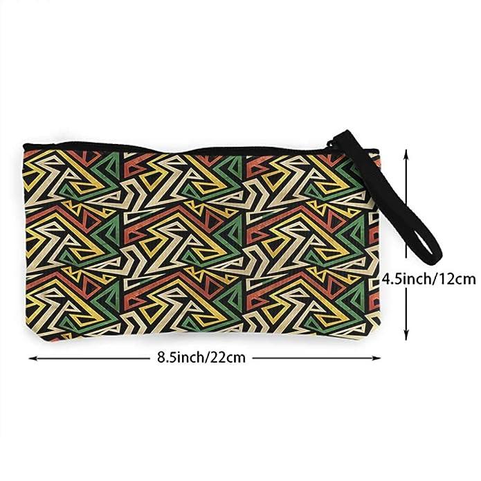 Amazon.com: Monedero de diseño tribal, forma triangular ...