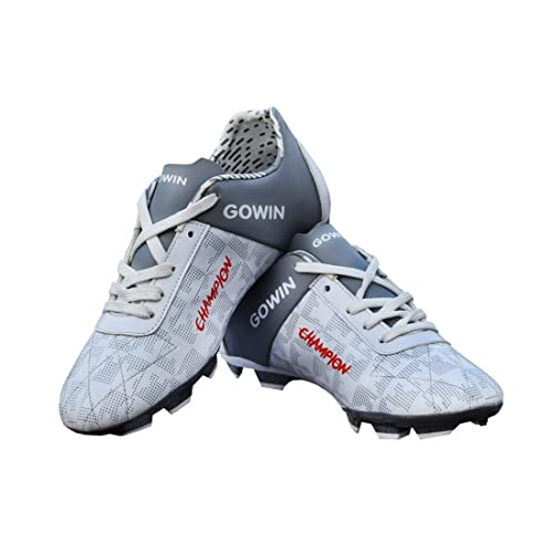 0da1ba4ffba Gowin Champion White Grey Football Shoes Size-6  Buy Online at Low ...