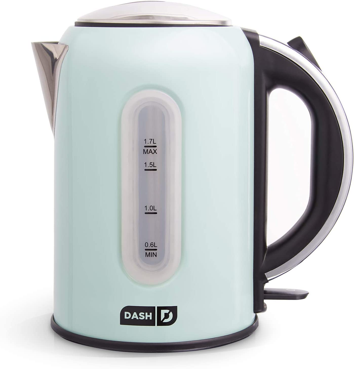 DASH DEK001AQ Electric Kettle + Water Heater with Rapid Boil, Cool Touch Handle, Cordless Carafe, No Drip Spout + Auto Shut Off For Coffee, Tea, Espresso & More, 57 oz/ 1.7 L - Aqua