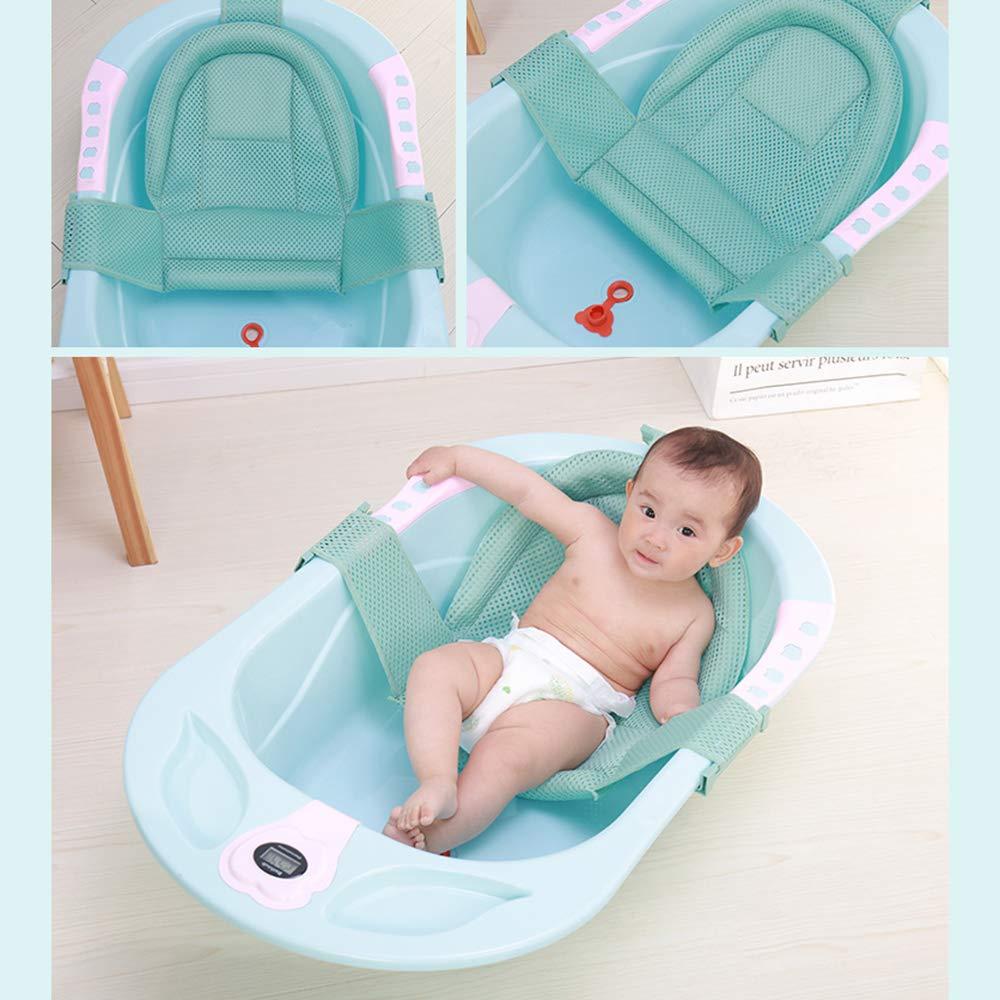 Anself Baby Badewannensitz Neugeborene Dusche Netz f/ür Badewanne Verstellbar Rutschfeste Badekissen