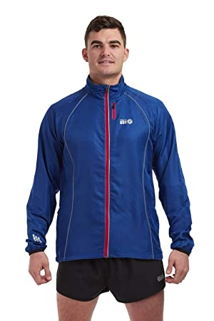 Time To Run Hombres Chaqueta Cortavientos de Running Zephyr