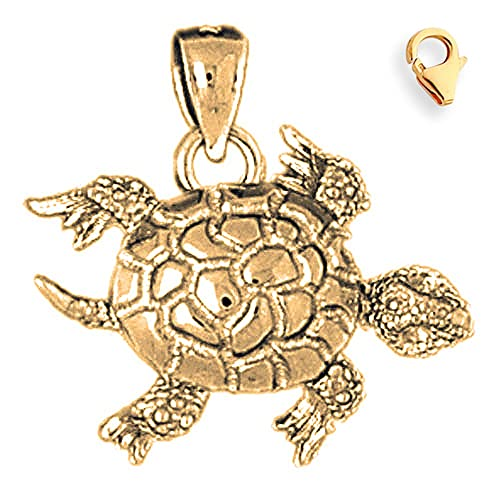 JewelsObsession Sterling Silver 25mm Turtles 3-D Moveable Charm w//Lobster Clasp