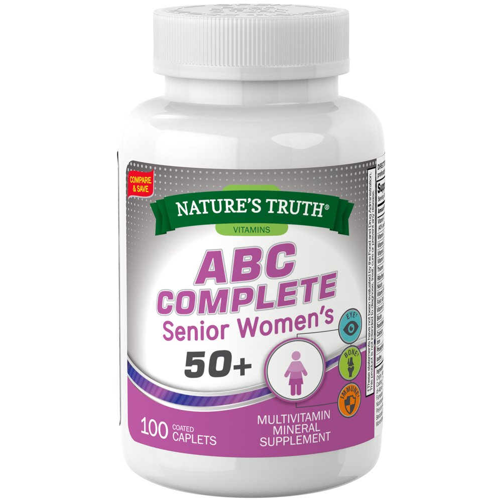 Nature's Truth ABC Complete Women's 50+ Multivitamin, 100 Count