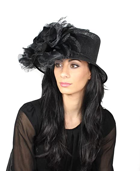 b90fc0644e5 Ladies Gorgeous Elegant Royal Ascot Kentucky Derby Hat - Black ...