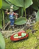 Bundle of 3 Miniature Garden Accessories - Scarecrow, Cabbage Patch, Red Wheelbarrow