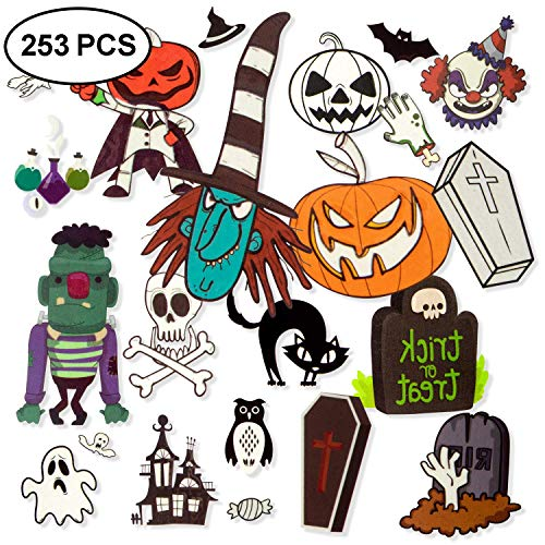Fake Tattoos For Halloween (Blasoul Waterproof Halloween Tattoo Stickers Festival Temporary Tattoos Noctilucent Stickers Bat Black Skeleton Web Zombie Ghost Tattoo Sticker for Boys Girls Halloween Party Favor Supplies 24)