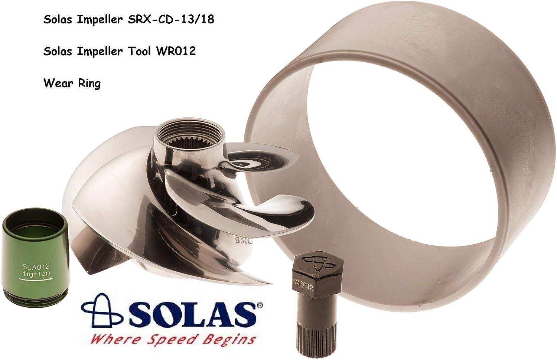 SOLAS Sea Doo 4-Tec 215 Impeller SRX-CD-13/18 W/Wear Ring & Tool GTX RXP RXT Wake
