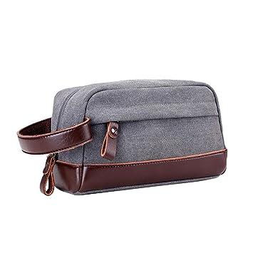 Amazon.com: normcorer – Vintage lona bolsa de aseo Dopp Kit ...