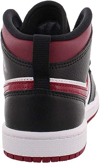 Nike Jordan 1 Mid (PS), Chaussure de Basketball Fille