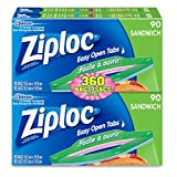 Ziploc Sandwich Bags with Easy Open Tabs - 360 Count (4x90ct) Value Pack