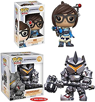 "Funko Pop! Overwatch: Mei + Reinhardt – 6""– Stylized Game Vinyl Figure New: Amazon.es: Juguetes y juegos"