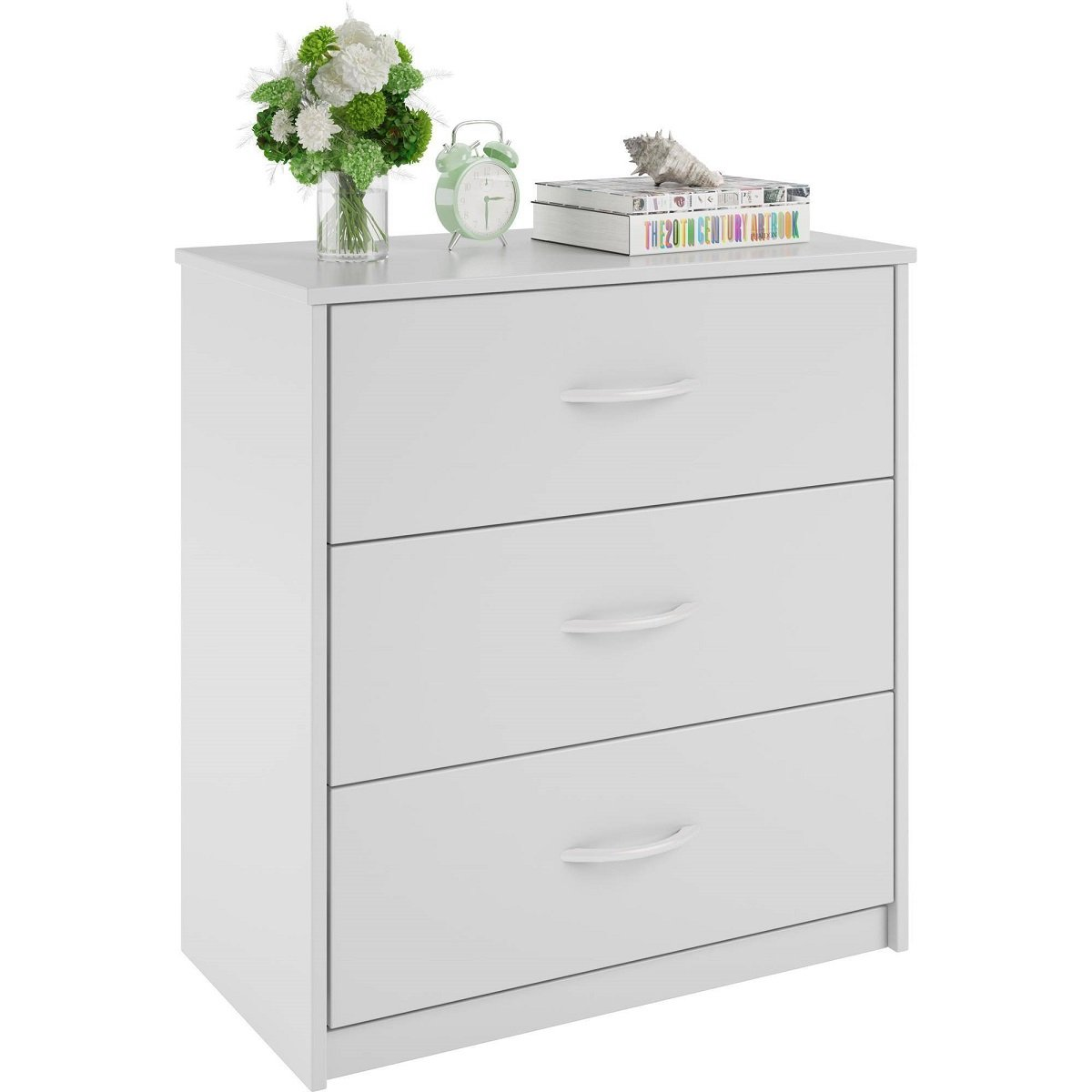 Mainstays 3-Drawer Dresser 3 easy-glide drawers (White) by Mainstay* (Image #3)