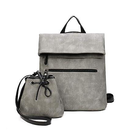 Amazon.com: LJFG 2 pcs Women Backpack PU Leather Rucksack Women School Bags for Mochila Bolsa Feminina,C: Home & Kitchen