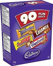 CADBURY Assorted Fun Treats - 1 kg (Mixed pack of 90)