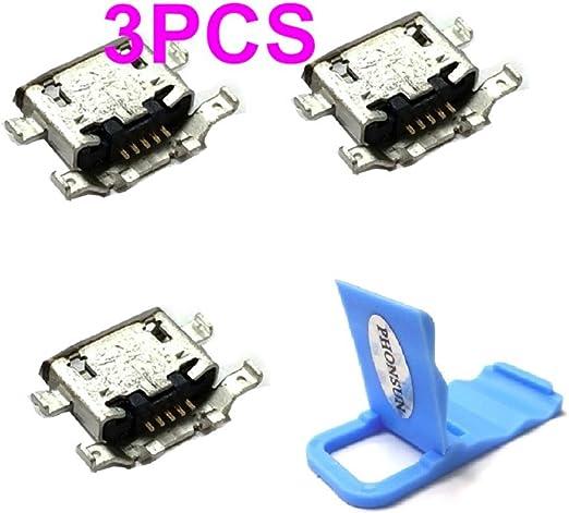 Micro USB Charging Sync Data Port Charger Dock Connector for Motorola Moto G Plus (4th Gen) XT1644 and Moto G4 Plus XT1641 + PHONSUN Portable ...