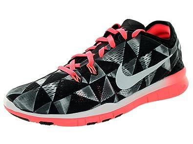 Mujeres Nike Libre 5.0 Tr Encajar 5 Cuadrados Blancos Y Negros