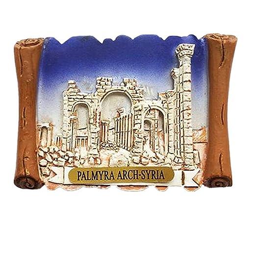 MUYU Magnet 3D Palmyra Arch Siria imán para Nevera Recuerdo Regalo ...