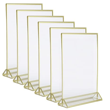 Amazon.com: Super Star Quality Clear Acrylic Double Sided Frames ...