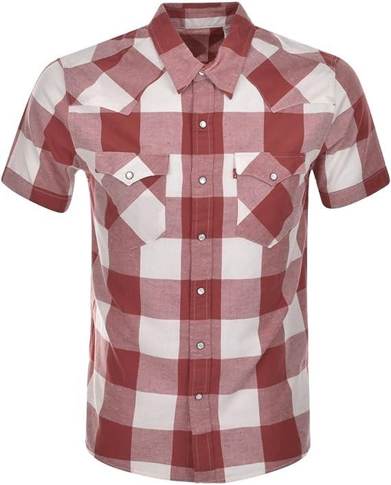 Levis S/s Classic Western Camisa, Multicolor (Bifora Marsala), Small para Hombre: Amazon.es: Ropa y accesorios