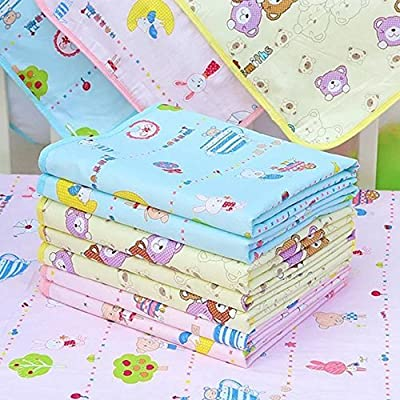 Cute Baby Waterproof Urine Cover Mat Burp Changing Pad Cotton