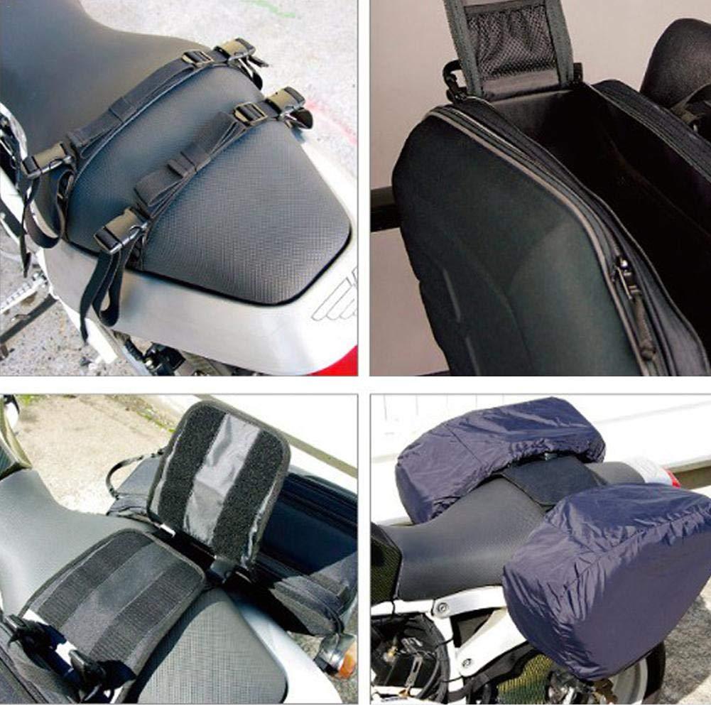Black Waterproof Motorcycle Saddle Bag Side Long-Distance Travel Large Capacity Tail Package Motorcycle panniers Bag Motorcycle Side Bag