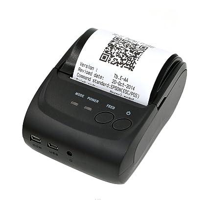 Impresora Térmica de Recibos 58mm Bluetooth Portátil para Android Móvil Enchufe de UE