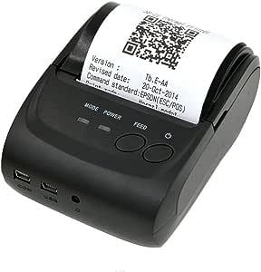 58mm Impresora Térmica de Recibos Bluetooth Portátil para