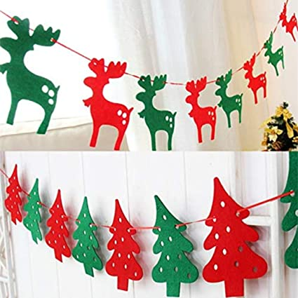 Christmas Garland Jingle Bells Banner Pennants Christmas Banner Christmas decor Wall Hanging Holiday Bunting Banner