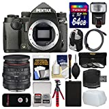 Pentax KP Wi-Fi Digital SLR Camera Body (Black) with 20-40mm Lens + 64GB Card + Backpack + Flash + Battery + Tripod + Filters + Kit