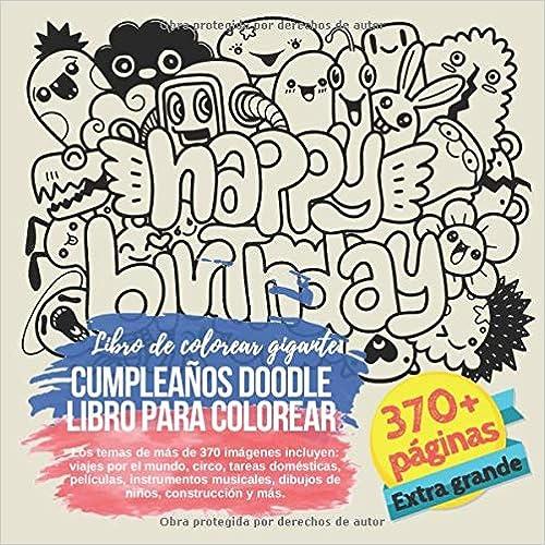 Cumpleaños Doodle Libro Para Colorear Libro De Colorear