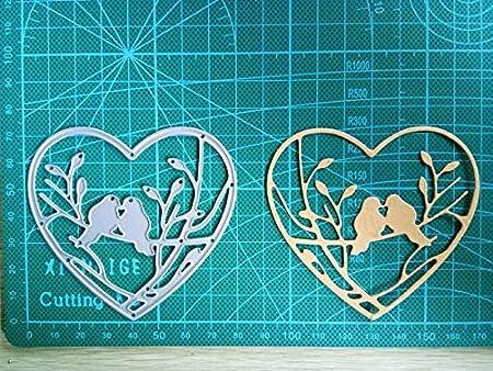 2//set Love Heart Metal Cutting Dies Stencils for DIY Cards Scrapbooking Decor US