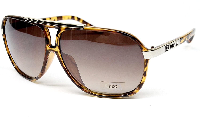 Dg Eyewear Gangster Thug Aviator Turbo Sunglasses Mens Brown Tortoise D860
