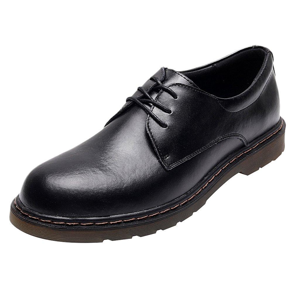 Jamron Unisexe Femmes Hommes Ancien Bout Rond Cuir 19939 Bout Décontractée Lacer Derby Chaussures en Cuir Oxfords Noir fd14ff3 - fast-weightloss-diet.space