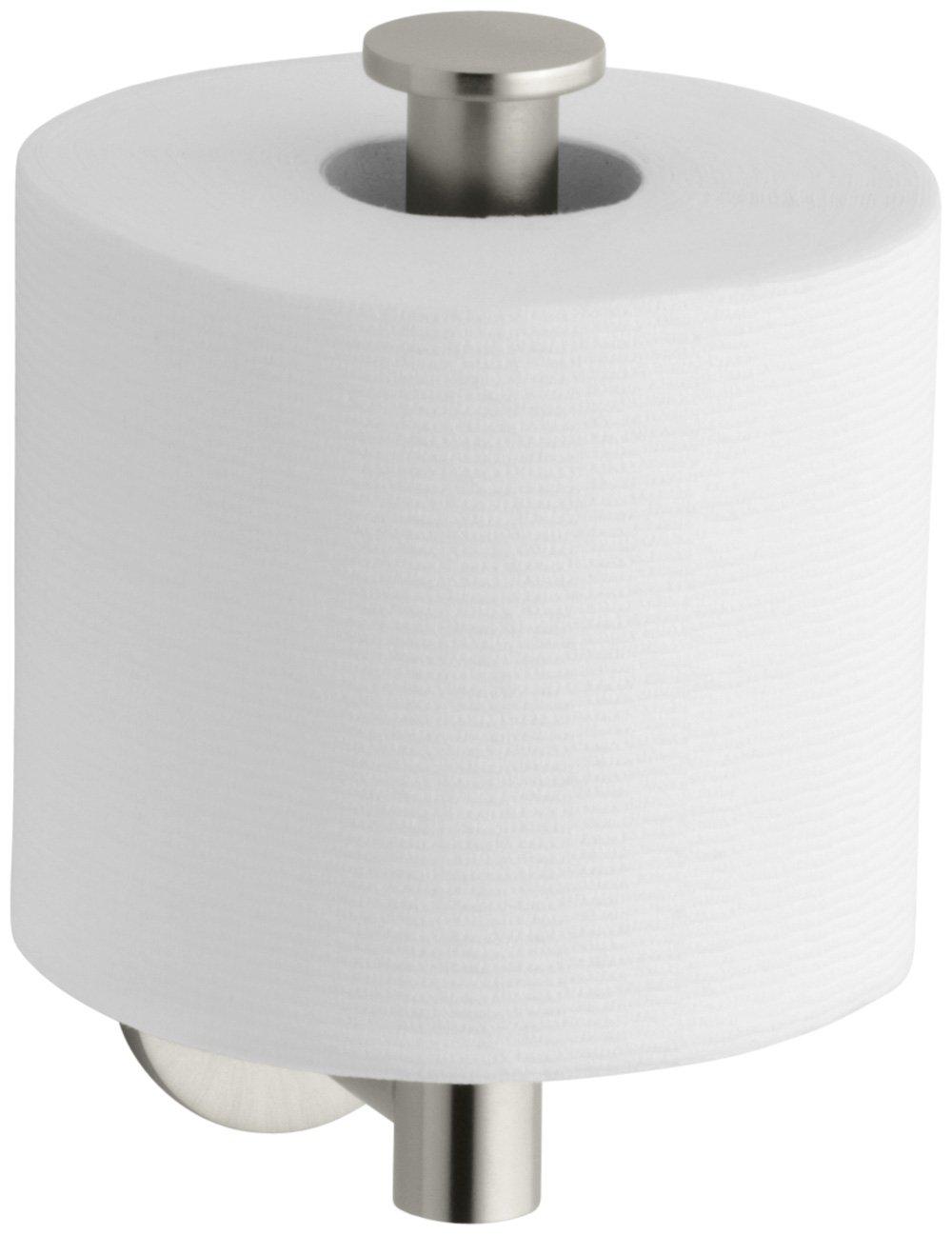 KOHLER K-14459-BN Stillness Toilet Tissue Holder, Vibrant Brushed Nickel