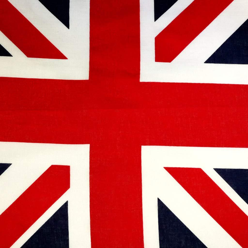 SHINAN 54 x 54 cm Pa/ñuelo de algod/ón dise/ño de bandera brit/ánica