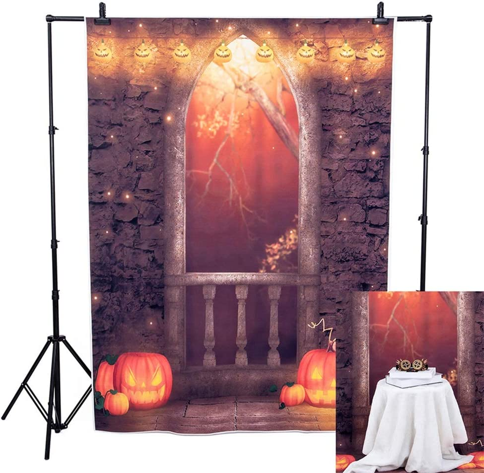 Lelinta Halloween Gothic Medieval Night Photography Backdrop for Family Dress Up Party Background with Prop Photo booth