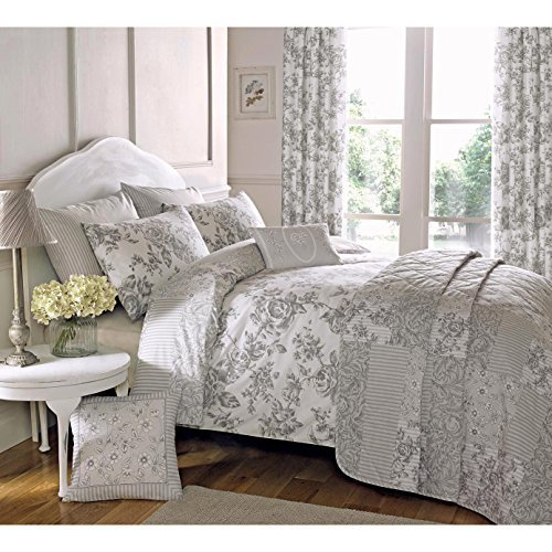 Just Contempo French Toile Duvet Cover Set, Double, Grey by Just Contempo (Grey Toile Duvet Cover)