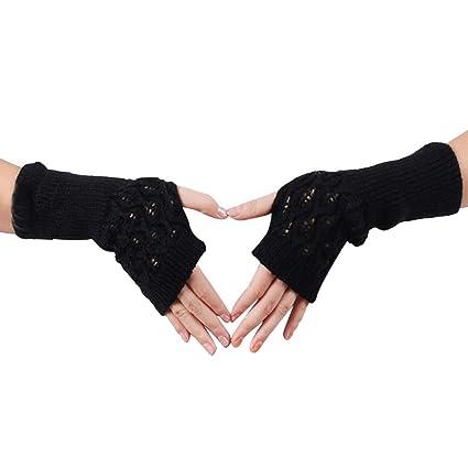 f68c94d02 Fine Sheep Wool Mitt Exposed Finger Women's Gloves Winter Autumn Knitted  for Women Fingerless Gloves Wrist