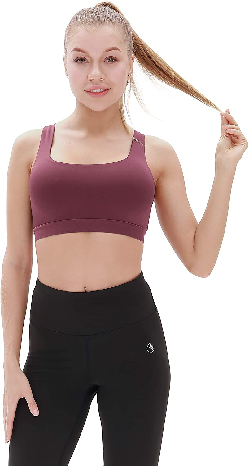 icyzone Womens Workout Yoga Clothes Activewear Racerback Strappy Sports Bras