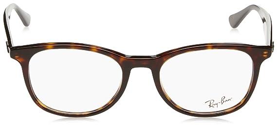 8182e8e8537 Amazon.com  Ray-Ban Unisex RX5356 Eyeglasses Shiny Havana 54mm  Clothing