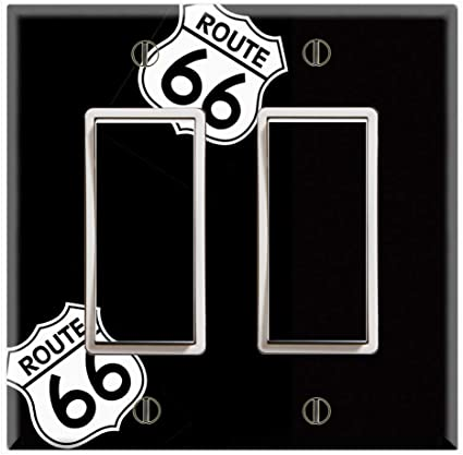 Graphics Wallplates Route 66 Sign Double Rocker Gfci Wall Plate Cover