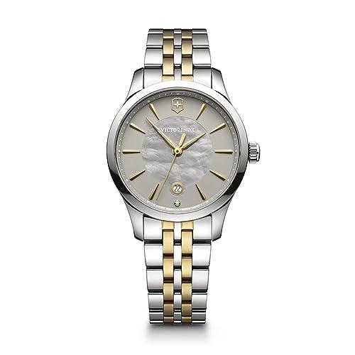 Victorinox Reloj Analogico para Mujer de Cuarzo con Correa en Acero Inoxidable 241753