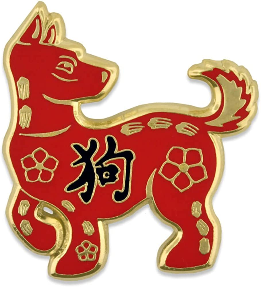 Pinmart 's Chinese Zodiac Year of the Dog New Yearエナメルラペルピン 25