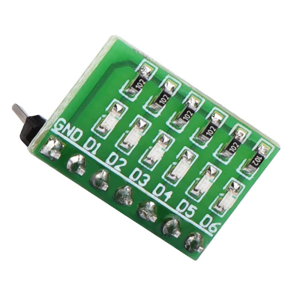 DC 3.3V 5V 12V 6 lue LED Module Display Indicator Board for MEGA2560 UNO AVR FPGA MCU LED Indicator Module DIY LED Board LED Module