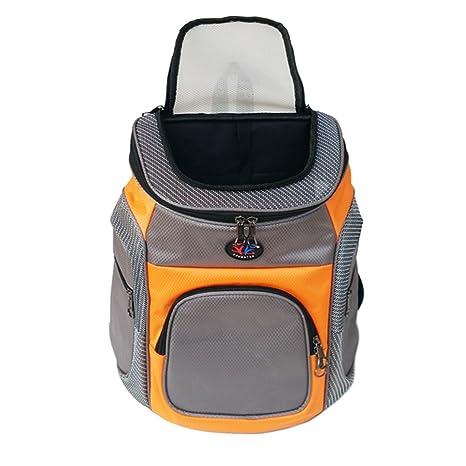Mochila de transportador de Mascotas Respirables Bolsa de Viaje al Aire Libre con Correa para la