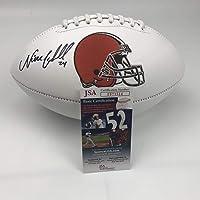 $104 » Autographed/Signed Nick Chubb Cleveland Browns Full Size FS White Panel Logo Football JSA COA