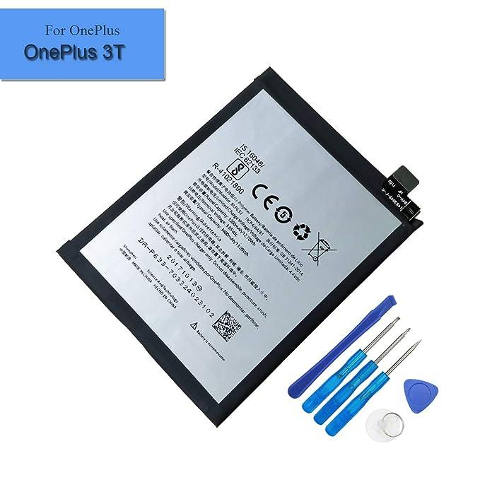 para OnePlus 3T a3003 batería de Repuesto blp633 3300 mAh 3.85 V decodificadores batería + Herramientas