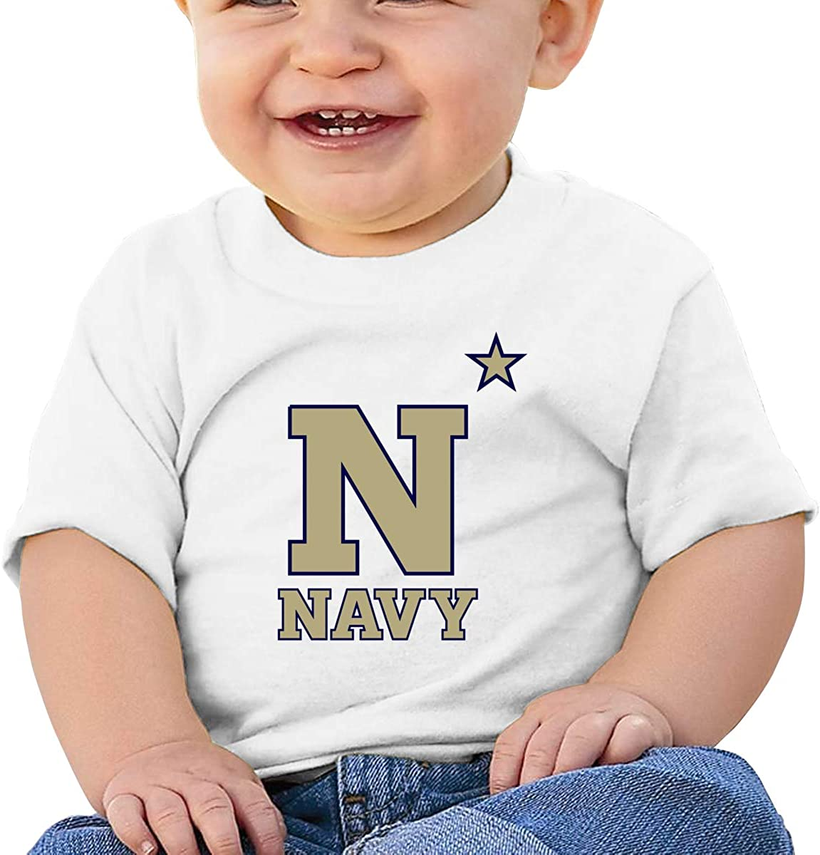 HUCON US Navy Naval Academy Little Baby Girls Boys T Shirt Funny Short Sleeve Clothes