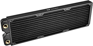 Thermaltake Pacific DIY Liquid Cooling System C360 27mm Thick High-Density Fins Single-Row Copper Tubes Copper Radiator CL-W228-CU00BL-A