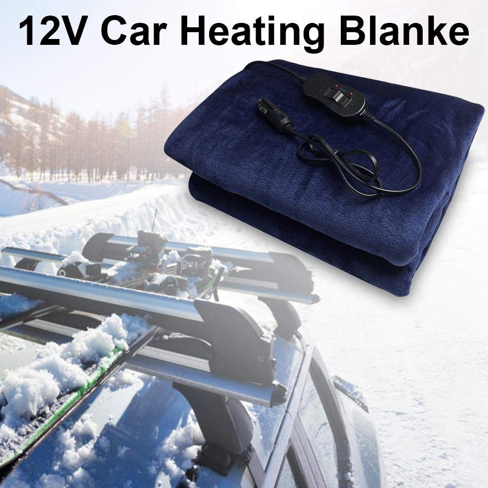 Feileng 3959inch 12V Car Heating Blanket Heated 12 Volt Fleece Travel Throw for Car and RV-Great for Cold Weather Traveling Camping,Tailgating kindhearted
